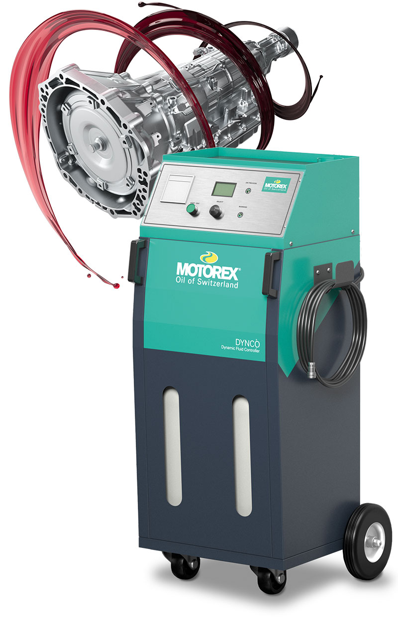 Motorex DYNCO Dynamic Fluid Controller with gearbox